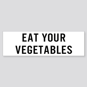 Eat Vegetables Sticker (Bumper)